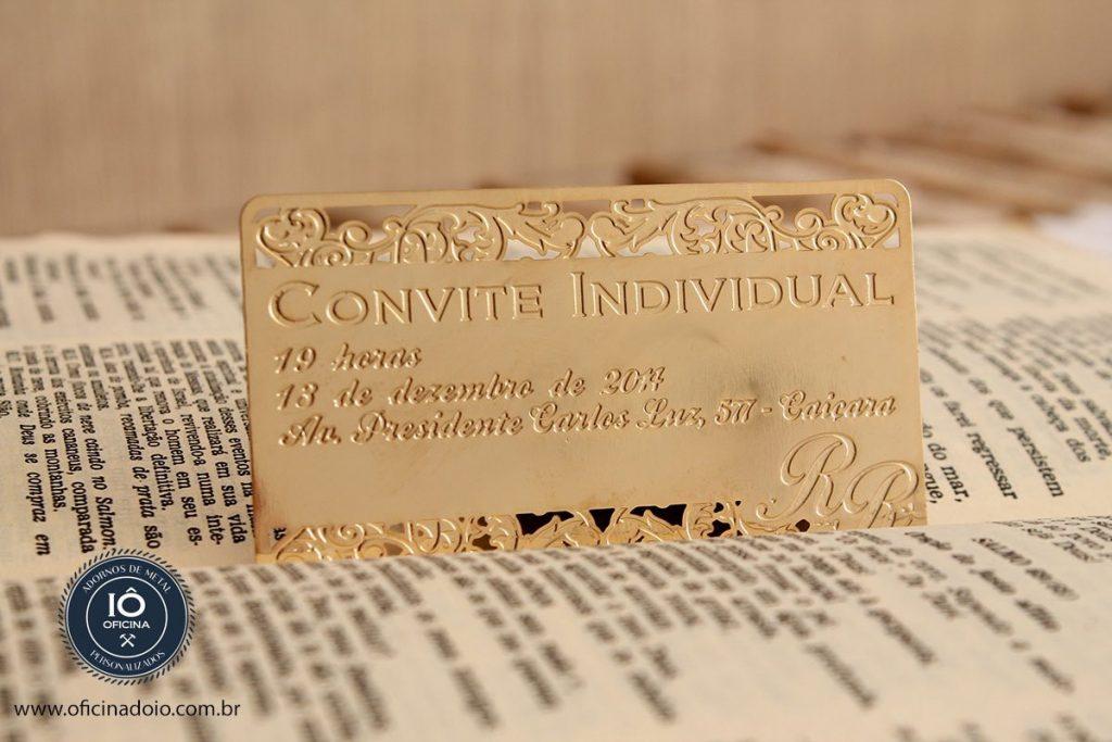 convite de casamento individual