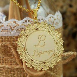 Medalha personalizada Dourada